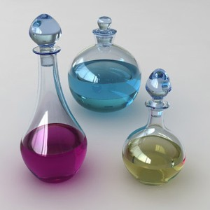 These pretty bottle contain crazy potions and elixirs!