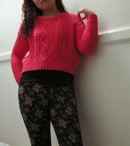 The colour is a bit bright for my taste, but  it is cutely cropped and made of breathable cotton cable knit!