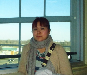 I hate this photo.  Look at my chubby face! Taken during travel and my period.  That's water retention, not weight gain...