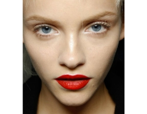 the classic bold red lip.