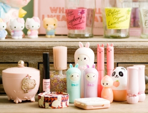 Typical examples of Japanese and Korean cosmetics...I want all of these...they are just too cute!