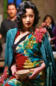 Ni Ni as Yu Mo in The Flowers of War (2011).