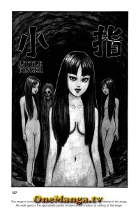 This is how Tomie regenerates and reproduces herself after being murdered,  She can grow from severed member of her body until she has many evil copies of herself.  Creepy.