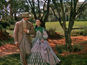 After she marries into weath with the famous Rhett Butler, Scarlett visits her family plantation in style.