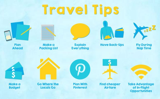 We always get these kinds of travel tips.  But the actual useful ones?  Read on! (image from